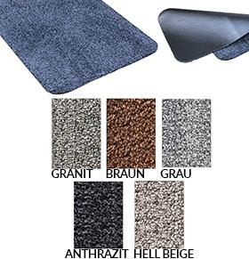 Fußmatte / uni Farben / Trockenlauf Aquastop  / 100 cm x 150 cm / braun / rechteckig