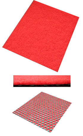 Roter Teppich / Budget Roter Teppich / 100 cm x 500 cm / feuerrot