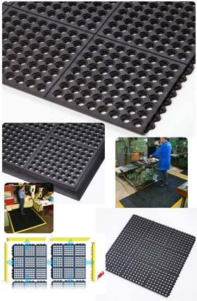 Gummimatte / Arbeitsmatte / Cushion-Ease / 91 cm x 91 cm / schwarz