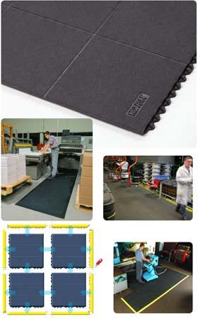 Gummimatte / Arbeitsmatte / Cushion-Ease Solid / 91 cm x 91 cm / schwarz