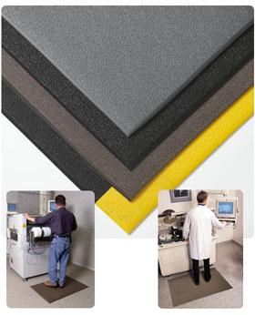 Gummimatte / Sicherheitsmatte / Cushion Stat / 91 cm x 18,3 m / schwarz-gelb