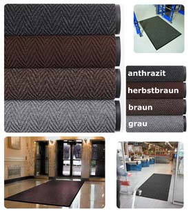 Fußmatte / uni Farben / Arrow Trax / 120 cm x 180 cm / herbstbraun