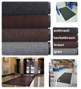 Fußmatte / uni Farben / Arrow Trax / 120 cm x 180 cm / grau