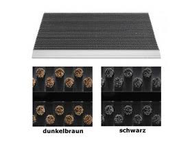 Bürstenmatten / Bürstenmatte Outline / 40 cm x 60 cm / dunkelbraun