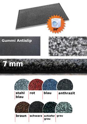 Fußmatte / uni Farben / MC Magic / 85 cm x 150 cm / rot