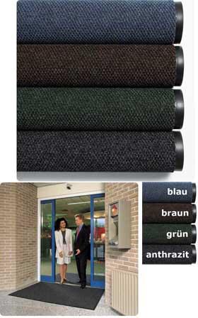 Fußmatte / uni Farben / Polynib  / 200 cm breit x ___ cm / anthrazit
