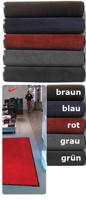 Fußmatte / uni Farben / Polyplush / Nach Mass / blau