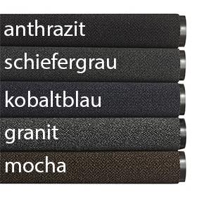 Fußmatte / uni Farben / Swisslon Classic XT / 120 cm x 180 cm / granit