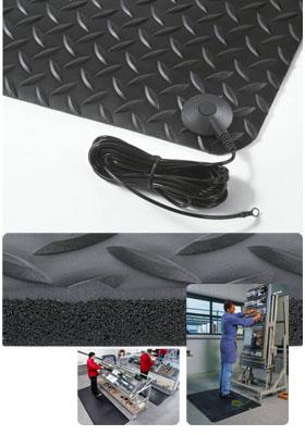 Gummimatte / Sicherheitsmatte / Diamond Stat / 91 cm x 150 cm / schwarz