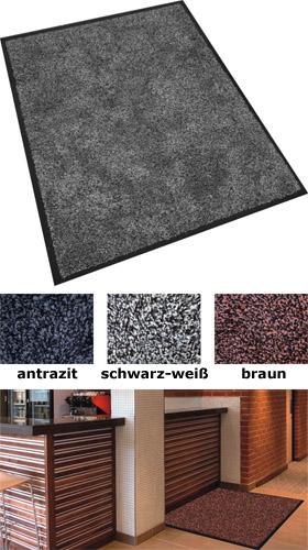 Fußmatte / uni Farben / Dry Dry / 85 cm x 150 cm / braun