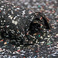 Rubberen opvulvloer  6 mm (van gerecycled rubber)