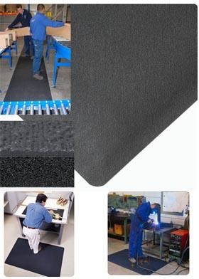 Gummimatte / Arbeitsmatte / Pebble Trax  / 91 cm x 150 cm / schwarz