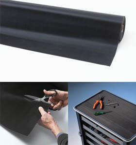 Gummimatte / Allwettermatte / Rib n Roll Breite Rippen 3 mm<br /> / 120 cm x 10 mtr / schwarz