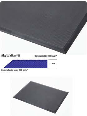 Gummimatte / Arbeitsmatte / SkyWalker II / 65 cm x 175 cm / grau