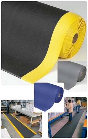 Gummimatte / Arbeitsmatte / Sof-Tred / 91 cm x 18,3 m / grau