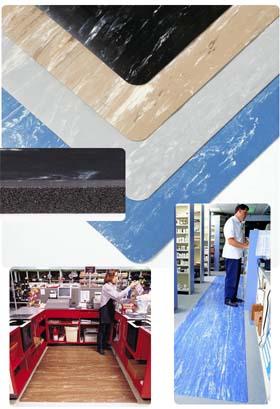 Gummimatte / Arbeitsmatte / Marble Sof-Tyle / 91 cm x 22,8 m / blau