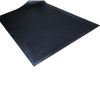 Gummimatte / Allwettermatte / Soil Guard / 90 cm x 150 cm / schwarz
