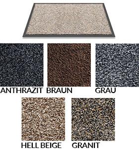 Fußmatte / uni Farben / Trockenlauf Watergate  / 50 cm x 80 cm / braun