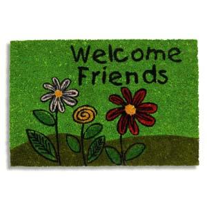Kokosmatte  / bedruckt / Welcome Friends 401 / 40 cm x 60 cm /