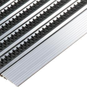 Accessoires / Aanloopprofiel Borstelzone op maat / per meter te bestellen incl. montage / aluminium